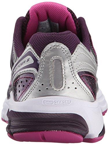 Saucony Lancer 2Zapatilla de Running de la mujer Silver/Grape/Fuchsia