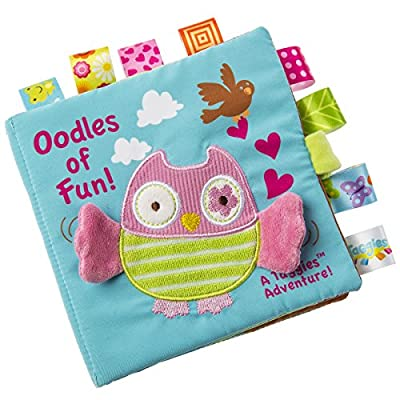 Taggies Touch & Feel Soft Cloth Book with Crinkle Paper and Squeaker, Oodles Owl : Baby