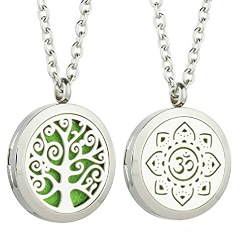 JAOYU 2PCS Essential Oil Diffuser Flower Necklace -