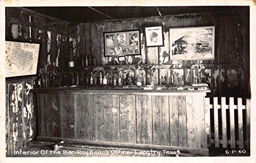 Real Photo Postcard Interior of the Bar Roy Beans Office in Langtry Texas~115610