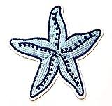 Nipitshop Patches Fashion Blue Starfish Sea Life