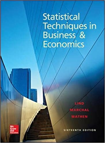 Amazon statistical techniques in business and economics 16th amazon statistical techniques in business and economics 16th edition 9780078020520 douglas a lind william g marchal samuel a wathen books fandeluxe Gallery