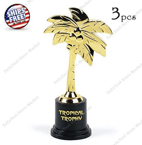 ZaZaTool - 3 Palm Tree Shaped Tropical Trophy Hula Limbo Contest Luau Party - Sunglasses Contest