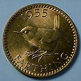 1955 GB George VI British farthing coin