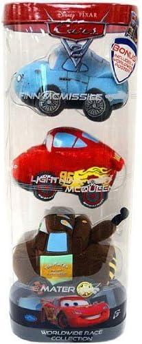 Amazon Com Disney Pixar Cars 2 Movie Worldwide Race Collection Plush 3pack Finn Mcqueen Mater Toys Games