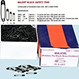 #6: Safety Pins - Black Safety Pins Size #1 - Length 1 1/16