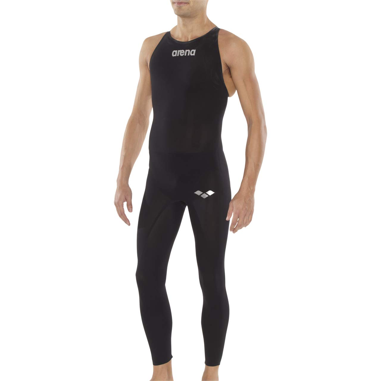 arena Powerskin R-Evo+ Open Water Closed Back Men's Racing Swimsuit, Black, 24 by Arena