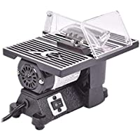 Goplus Electric Table Saw 8500 RPM Mini Portable Benchtop Tablesaw Adjustable Miter Saw Table Home or Workshop Use Perfect for Hobby or Craft