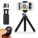 Image of Gvozd Tripod Stand Holder, Flexible Mini, with Bluetooth Wireless Remote Shutter and Universal Clip for Iphone, Phone, Smartphone, iPad, Digital Camera, Gopro