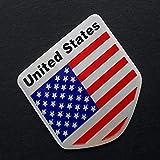 FidgetFidget Sticker Alloy Metal Emblem Car Badge Chrome US USA American Flag Decals