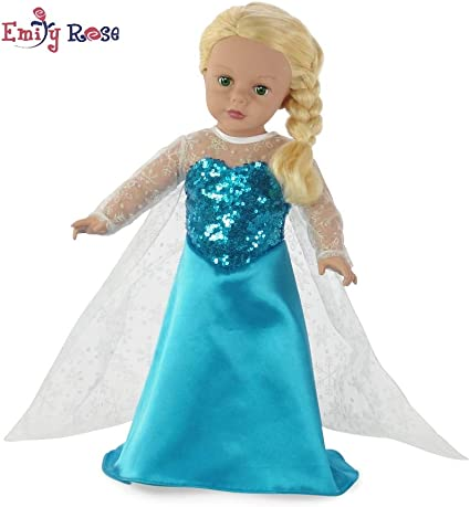 "Elsa New Sophia Doll Clothes 3 Outfits Set Fits 18/"" American Girl Type Doll"