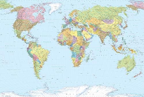 Cartina Politica Italia Alta Definizione.Deco Italia Fotomurale Cartina Geografica Mondo Poster Gigante Per Parete Carta Da Parati In Tnt Alta Definizione 368 X 248 Cm Amazon It Casa E Cucina