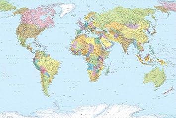 Cartina Mondo Politica Alta Risoluzione.Deco Italia Fotomurale Cartina Geografica Mondo Poster Gigante Per Parete Carta Da Parati In Tnt Alta Definizione 368 X 248 Cm Amazon It Casa E Cucina
