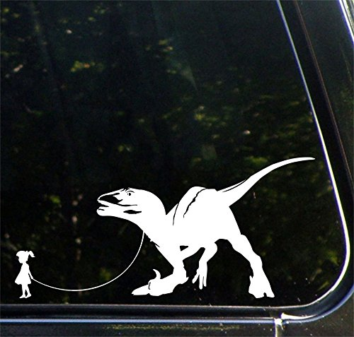 Pet Dinosaur Velociraptor Girl Sticker product image