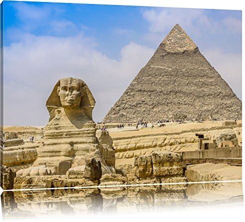 Gran Esfinge de Giza con la pirámide Formato: lienzo 60x40, XXL enormes imágenes completamente enmarcadas con camilla, la lámina en cuadro de la pared con el marco, más barato que las pinturas