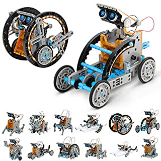 RCSPACEX STEM Solar Robot Toys-12 in 1 Educational Science Building kit-Learning Experiment Toys Set for Kids Aged 8+ Years Old