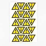 100pcs 25mm Exclamation Mark Waterproof Triangle Symbol Warning Labels Danger Caution Security Stickers Health Safety Signs