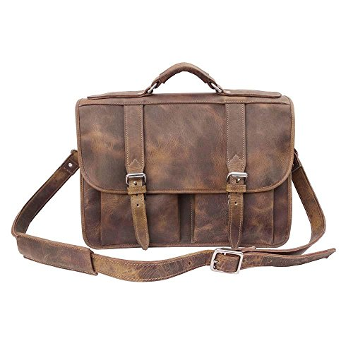 Joseph Hanna Double Gusset Briefcase | Made in NYC | Est. 1962 (Antique) - Nyc Antique