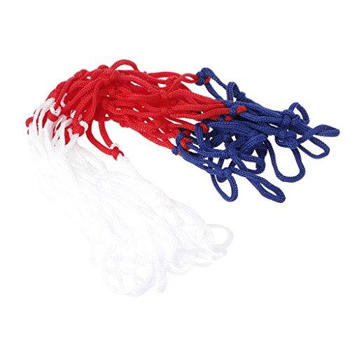 ULKEMEUniversal 5mm Red White Blue Basketball Net Nylon Hoop Goal Rim Mesh