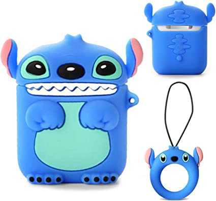 Amazon Com Airpods 1 2 Charging Case Cover Cute Cartoon Airpods