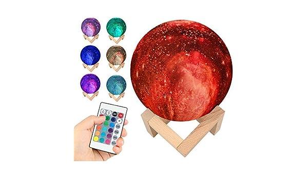 Lampara Luna 3D LED Moon Lamp, Lámpara magica de LunaImpresión en ...