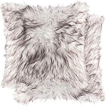 Amazon Com Natural Handcrafted Rabbit Fur Pillow With