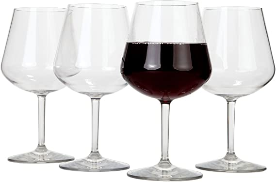 Lily's Home Chef Collection Unbreakable Pinot Noir and Burgundy Red Wine Glasses