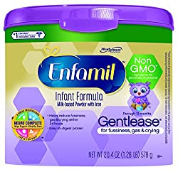 Enfamil Gentlease Non GMO Baby Formula, 20.4 Ounce (Pack of 4)