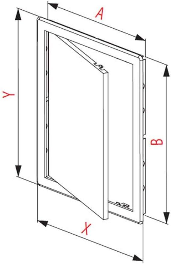 20x15 cm Revisionsklappe Wartungst/ür aus Metall Revit/ür in wei/ß 200x150 mm
