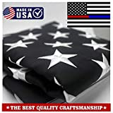 ATHX ThinBule and Red Line Flags 2x3 ft. - Embroidered Stars - Sewn Stripes - Brass Grommets - 210D Heavyweight Oxford Nylon Built for Outdoor Use (2 by 3 Foot, Thin Bule and Red Line Police Flag)