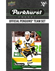 Pittsburgh Penguins 2017 2018 Parkhurst Hockey Factory Sealed 10 Card Team Set with Sidney Crosby, Evgeni Malkin, an EXCLUSIVE Penguins team card plus