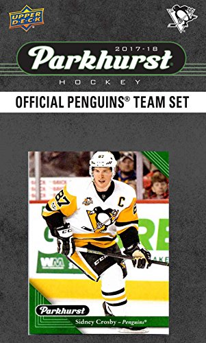 Sidney Crosby Card (Pittsburgh Penguins 2017 2018 Parkhurst Hockey Factory Sealed 10 Card Team Set with Sidney Crosby, Evgeni Malkin, an EXCLUSIVE Penguins team card plus)