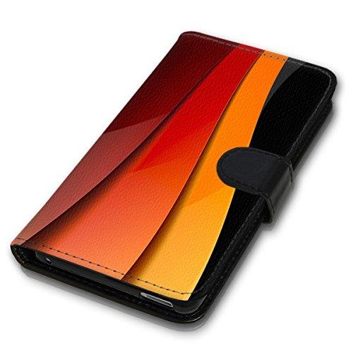 Wallet Book Style Flip Handy Tasche Case Schutz Hülle Schale Motiv Etui für Apple iPhone 6 / 6S - Design Flip MV119