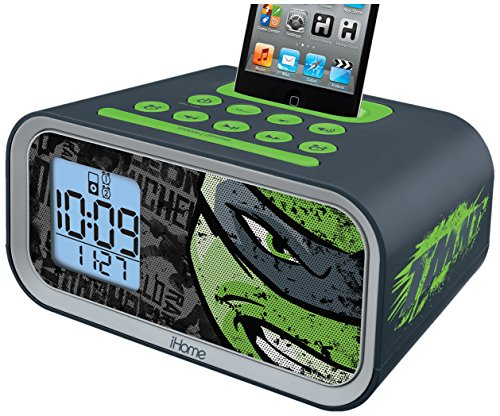 Teenage Mutant Ninja Turtles Dual Alarm Clock Speaker System (TM-H22) Ipod Alarm Clock Speaker System