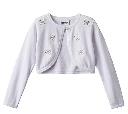 Amazon.com  Blueberi Boulevard Girls Butterfly Jewel Shrug Sweater ... 7ca66f17e