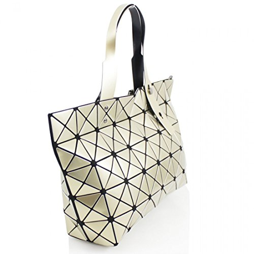 Cube Hand Glossy Galaxy Light Weight Wide Tall and Women Gold Ladies Linen Prism Geometric Shoulder Style Bag 68wSXqw