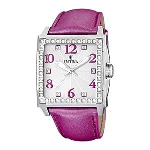 Festina F16571/4 - Reloj analógico de cuarzo para mujer con correa de acero inoxidable, color rosa