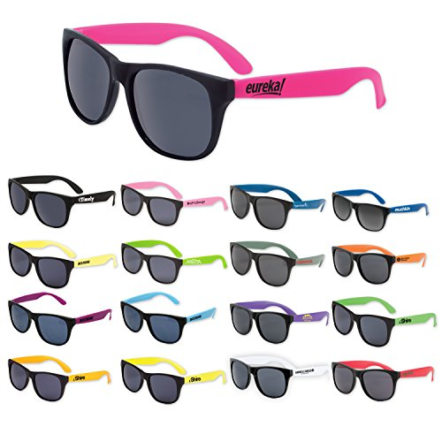 150 Custom Classic Sunglasses Imprinted with Your Logo or - Sunglasses With Neon Logo
