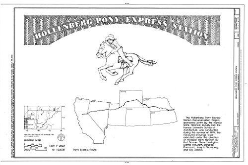 Structural Drawing HABS KANS,101-HAN.V,1- (sheet 1 of 10) - Hollenberg Pony Express Station, Route 243, 6.9 miles south of Nebraska border, Hanover, Washington County, KS 66in x 44in (Pony Express Route)