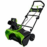 40 volt electric snow blower - Greenworks 20-Inch 40V Cordless Brushless Snow Thrower, Battery Not Included 2601102