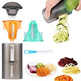2 Pack Ultimate 8/18 Stainless Steel Blades Compact Handheld Spiral Slicer,Easy-Use Vegetable Spiral Slicer,Best Veggie Zucchini Pasta Spaghetti Maker On Raw Food/Low Carb/Gluten Free/No Wheat/Diet