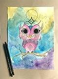 Mystic Owl Watercolor