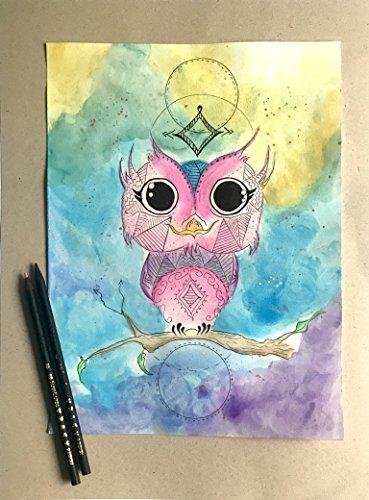 Mystic Owl Watercolor by FoxLyn