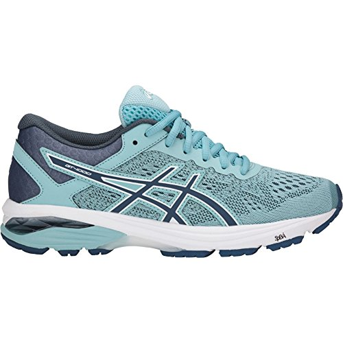 ASICS Womens GT-1000 6 Running Shoe, Porcelain Blue/Smoke Blue/White, Size 10 -