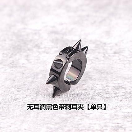 Steel Magnet Earrings Earring Dangler Eardrop Pierced Without Ear Clip Women Girls Men Single only Buckle Personality (Silver Cross Hanging
