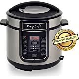 MegaChef Digital Pressure Cooker with 14 Pre-Set Multi Function Features, 6 quart