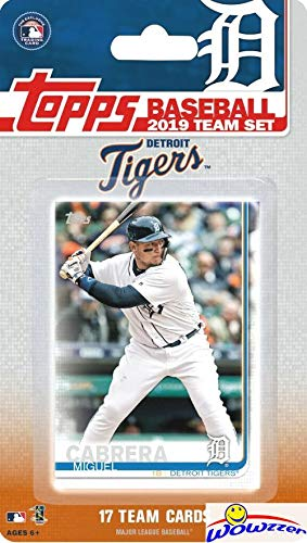 (Detroit Tigers 2019 Topps Baseball EXCLUSIVE Special Limited Edition 17 Card Complete Team Set with Miguel Cabrera,Nicholas Castellanos & Many More Stars & Rookies! Shipped in Bubble Mailer! WOWZZER!)
