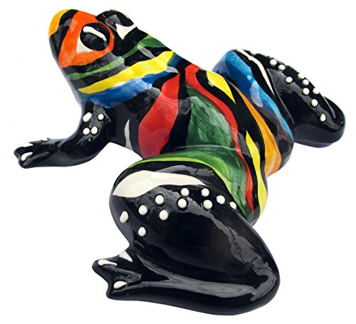 Mr. Rainbow Frog - Ceramic Frog Hand Painted In Spain by Cactus Canyon Ceramics