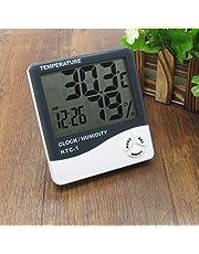 Relógio Digital Com Higrômetro e Termômetro Despertador HTC-1