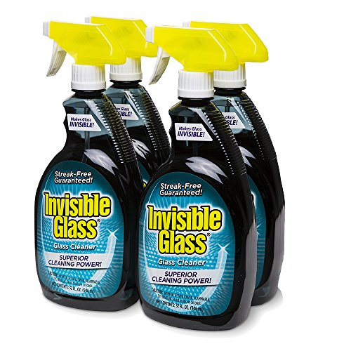 Invisible Glass Cleaner and Window Spray for Home and Auto for a Streak-Free Shine. Film-Free Glass Cleaner Safe for Tined and Non-Tinted Windows. Windshield Film Remover, 32 ()
